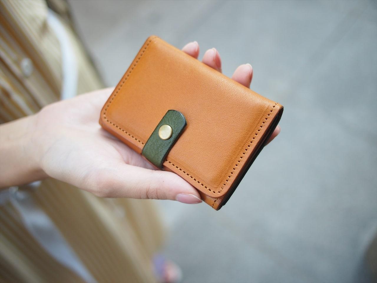 ミニ財布 小さな財布 ミニウォレット ミニマリスト カードサイズ ヌメ革 レザー 本革 シンプル おしゃれ bagbus バッグバス
